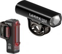 2021 Lezyne LED Fahrradbeleuchtungsset Lite Pro 115 StVZO + Strip Drive StVZO